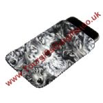 Wolf Faces Phone Pouch